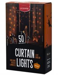 Viidenkymmen valon oranssi LED-verho