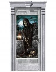 Riivattu hautausmaa- ovikoriste 165 x 85 cm