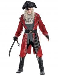 Zombin/merimiehen punainen naamiaisasu miehelle