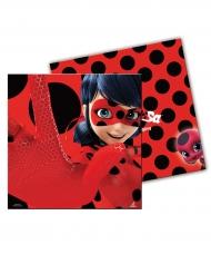 20 Ladybug™ punaista servettiä pilkuilla 33 x 33 cm