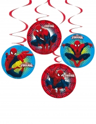 Ripustettavat Spiderman™- pahvikoristeet 4 kpl