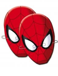 Kuusi pahvista Spiderman™-naamaria 6 kpl