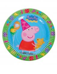 8 Peppa Pig™ pahvilautasta 18 cm