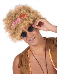 Blondi kihara hippiperuukki aikuiselle