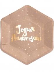 8 Joyeux anniversaire -lautasta 23 cm