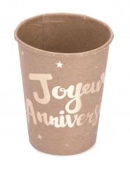 8 Joyeux Anniversaire -pahvimukia 200 ml