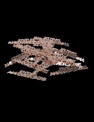 Joyeux Anniversaire -ruusukultaiset koristeet 17 g