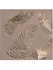 16 Kultainen palmu -servettiä 33x33 cm