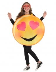 Rakastuneen emojin naamiasiasu lapselle