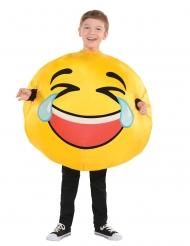 Nauravan emojin naamiaisasu lapselle