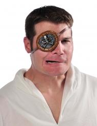 Merirosvon silmälappu pääkallolla aikuiselle