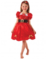 Miss joulun punainen mekko tytölle