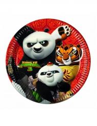 Kung Fu Panda 3™- pahvilautaset 8 kpl 23 cm