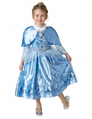 Tuhkimo™-talviprinsessan naamiaisasu viitalla tytölle