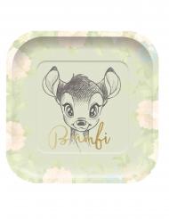 4 Neliönmuotoista Bambi™-pahvilautasta 24 x 24 cm