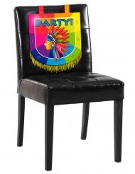 Pahvinen tuolikoriste intiaani 38 x 34 cm