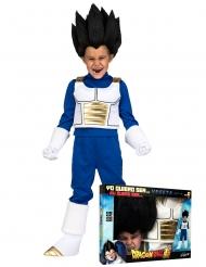 Vegeta Dragon Ball™- naamiaisasu ja peruukki lapselle