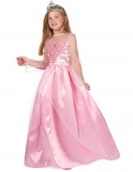 Tytön vaaleanpunainen prinsessamekko