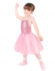Vaaleanpunainen balettiasu tytölle