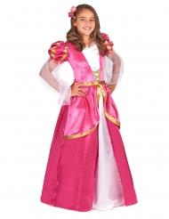 Keskiaikainen vaaleanpunainen prinsessamekko