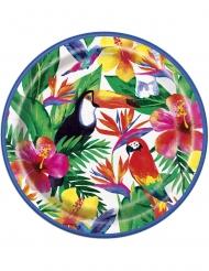 Palm Tropical Luau- pahvilautaset 23 cm 8 kpl