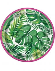 Palm Tropical Luau- pahvilautaset 18 cm 8 kpl