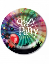 Crazy Party™- pahvilautaset 23 cm 6 kpl