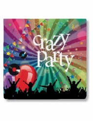 Crazy Party- servetit 33 x 33 cm 20 kpl