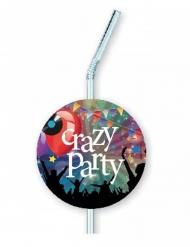 Crazy Party- muovipillit 12 x 33 cm 6 kpl