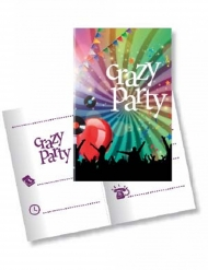 Crazy Party- kutsukortit 11 x 12 cm