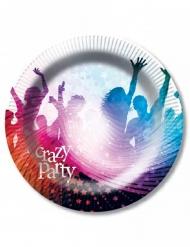 6 Crazy Party-pahvilautasta 23 cm