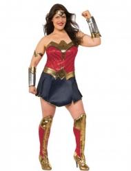 Justice League™- Wonder Woman plus-kokoinen naamiaisasu aikuiselle