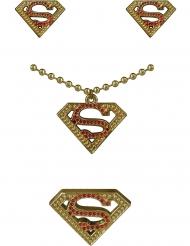 Supergirl™-korvakorut, kaulöakoru ja sormus