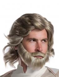 Luke Skywalker The Last Jedi™ peruukki ja parta aikuiselle
