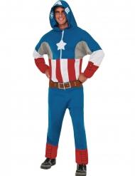 Hupullinen Kapteeni Amerikka™-haalari aikuiselle