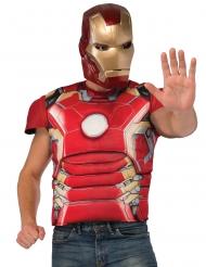 Lihaksikas Iron Manin™ rinta ja naamari aikuiselle