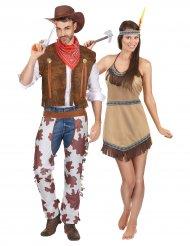 Cowboy ja intiaani- pariasu aikuisille