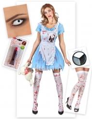 Liisan halloween-naamiaisasusetti naiselle