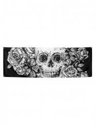 Pääkallo ja kukat- seinäkoriste 74 x 220 cm