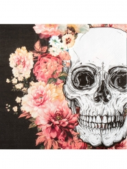 Luuranko ja kukat- servetit 33x33 cm 12 kpl