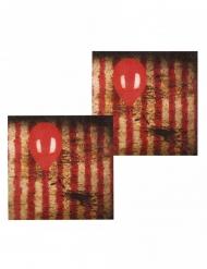 Karmiva klovni- servetit 33 x 33 cm 12 kpl