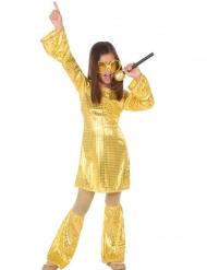 Kultainen discoasu tytölle