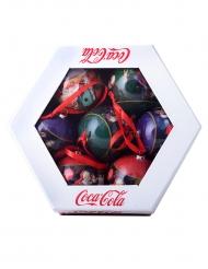 Coca-Cola™- joulupallot 7 kpl 7,5 cm