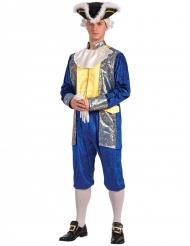 Sinikultainen markiisiasu miehelle