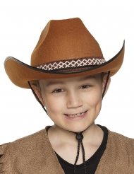 Ruskea cowboyhattu lapselle