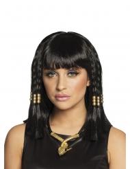 Lyhyt musta egyptiläisen peruukki naiselle