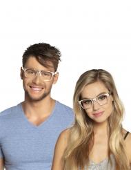 Hopeanväriset silmälasit aikuiselle