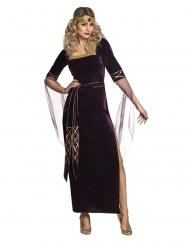 Keskiaikasen Ladyn violetti naamiaisasu naiselle