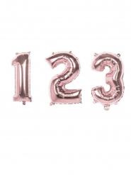 Vaaleanpunainen numeroilmapallo 86 cm