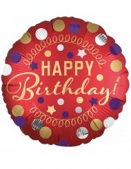 Alumiininen Happy Birthday- ilmapallo 43 cm
